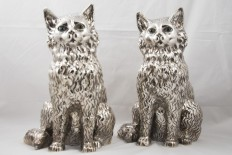 Pair of silver cats