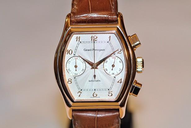 Rose gold wristwatch