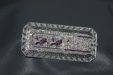 Platinum brooch